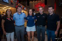 Fátima Figueiredo, Rogério Pinheiro, Hedla Lopes, Carlos Galvão e Erick Vasconcelos