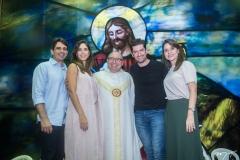 Maurício Targino, Marília Fiuza, Padre Eugênio, Paulo e Camila Benevides