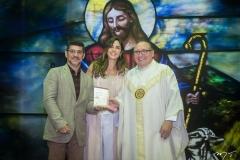 Paulo Moregola, Marília Fiuza e Padre Eugênio