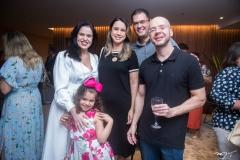 Lícia e Laura Pontes,  Fabiana Porto, Marcos Araújo e Ozias Pontes