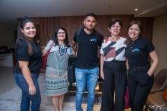 Paula Rodrigues, Lúcia de Fátima, Marcelo Costa, Rizélia Alencar e  Sayona de Paula