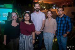 Hanna Silva, Beatriz Rodrigues, Roberto Torquato, Jeissa Marques e Daniel Soares