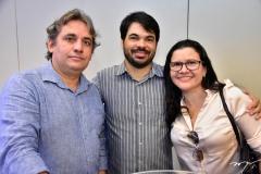 Pedro Henrique, David e Patricia Pacheco