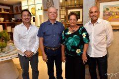 Rodrigo Parente, Clidenor Capibaribe Filho, Ana Nery e Pedro Ivo Colares