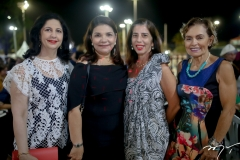 Ana Maria Jereissati, Selma Castro Alves, Cristina Romcy e Cristine Simões