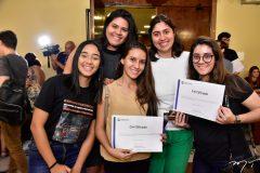 Joyce Lemos, Mariana Abreu, Ana Evele Dasmaceno, Milena Alipi e Isabele Sampaio