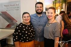 Aline Conde, Alan Victor e Jéssica Colaço