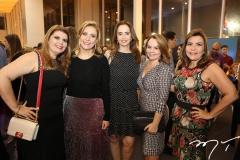 Danielle Pinheiro, Andréa Delfino, Christiane Pessoa, Lina Mendonça e Andrea Bonorandi