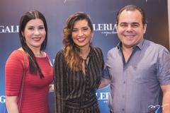 Lia Linhares, Márcia Travessoni e Gentil Linhares