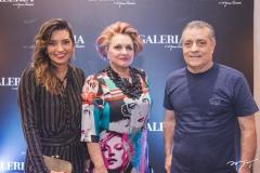 Márcia Travessoni, Alessandra Aragão e Laerte Fernandes