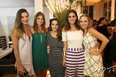 Nathália Ponte, Giovanna Esteves, Ticiana Machado, Deborah Bandeira e Nathalia Petrone