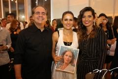 Ricardo e Manoela Bacelar, com Márcia Travessoni