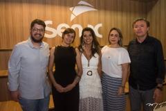 Ivan Prado, Raquel Cajé, Márcia Travessoni, Georgia Philomeno e Maurício Filizola