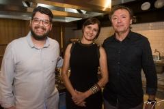 Ivan Prado, Raquel Cajé e Maurício Filizola