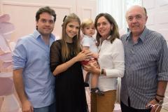 Felipe Esteves, Giovanna Gripp, Benício, Cristiane e Antônio Esteves