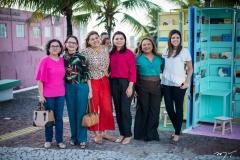 Célia Medeiros, Tânia Gurgel, Veranice Oliveira, Gabriela Sabry, Silvana Garcia e Viviane Gonçalves