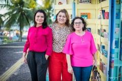 Gabriela Sabry, Veranice Oliveira e Célia Medeiros
