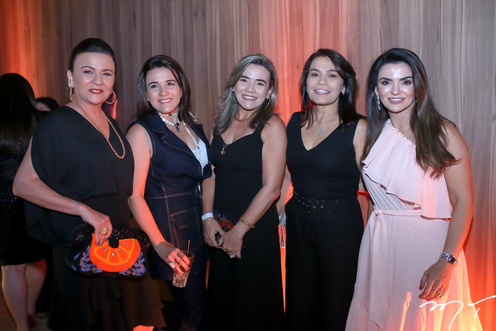 Guiomar e Leomar Feitosa, Celma Viana, Margarida Alves e Monalisa Cavalcante