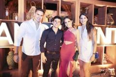 Rodrigo Junqueira, Pedro Paulo Negrão, Nicole Vasconcelos e Iasmin Magalhães