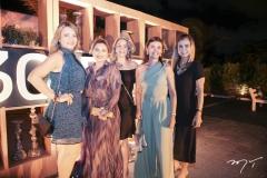Telma Coelho, Noima Pinheiro, Cristiane Franco, Ada Abreu e Tereza Porto