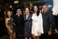 Maria Clara, Pedro Paulo, Lenita Negrão, Maria Lúcia Negrão e Pedro Carapeba