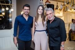 Romário Rodrigues, Lara Linhares e Léo Shehtman