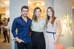 Romário Rodrigues, Márcia Travessoni e Lara Linhares