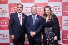Beto Studart, Rogério Marinho e Emilia Buarque