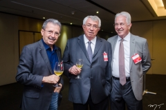 Egídio Serpa, Roberto Macedo e Carlos Prado