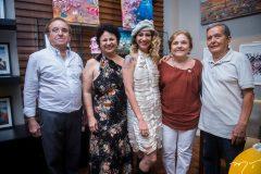Maurílio de Holanda, Maira, Maiara Capistrano, Célia e Eduardo Vilar