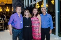 Francisco, Carla Militão, Beth e Edval Azevedo