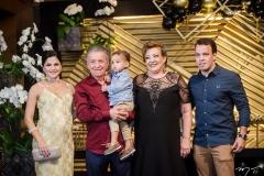Hanna, Majela, Alexandre Neto, Vera Félix e Alexandre Junior