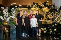 Renata, Vera, Majela, João Agusto e Claudia Félix