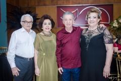 Vicente, Ericina Leitão, Majela e Vera Félix