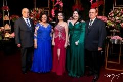 José e Lúcia Benevides, Marcelle, Sellene e Max Câmara