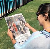 Márcia Travessoni exibe capa especial de 34 anos do caderno Gente, celebrados sob a edição dela