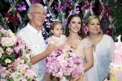 José Gerado Pontes, Maria Paula e Sarah Rolim e Sarah Philomeno