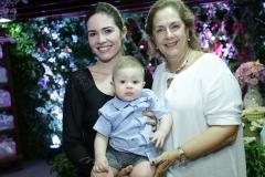 Natalia e Rafael Cals e Tida Leal