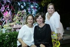 Tida Leal, Mônica Gentil e Sarah Philomeno