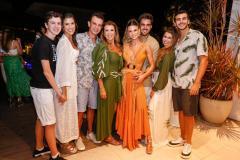 Fredinho, Marcela, Fred, Alexandra e Mariana Pinto, Lucas Ximenes, Júlia e Felipe Pinto