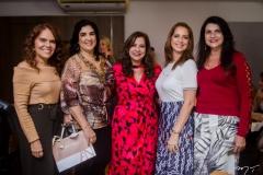 Cláudia Alexandre, Izabele Leitão, Martinha Assunção, Márcia Andréa e Cândida Portela