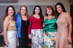 Gena Campos, Luiziane Cavalcante, Cândida Portela, Fátima Duarte e Ana Virgínia Martins