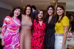 Gina Pompeu, Ana Virgínia Martins, Martinha Assunção, Cristiane Faria e Lorena Pouchain