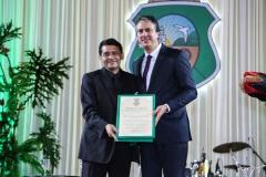 Alemberg Quindins e Camilo Santana