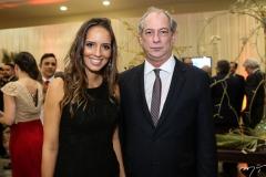 Giselle Bezerra e Ciro Gomes