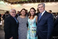 Odorico Monteiro, Ivana Barreto, Patrícia e Amarílio Macedo