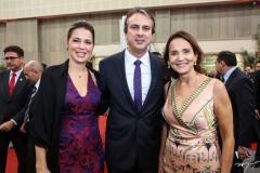 Onélia Leite, Camilo Santana e Izolda Cela