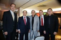 Régis Medeiros, José Carlos Pontes, Roberto Alves, Philippe Godefroit e Eliseu Barros