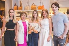 Priscilla Silva, Tane Albuquerque, Gisela Franck, Maira Silva e André Albuquerque