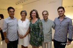 Franklin Pedroso, Maria-Carmen Perlingeiro, Bia, Max e Victor Perlingeiro